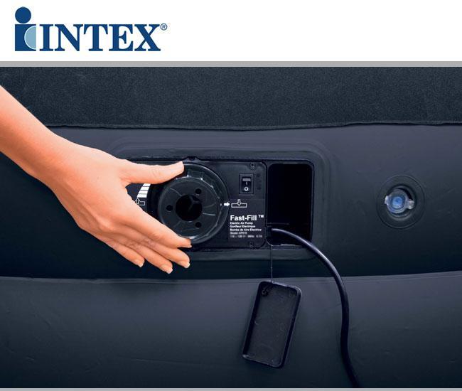 Letto gonfiabile intex con pompa elettrica for Letti gonfiabili